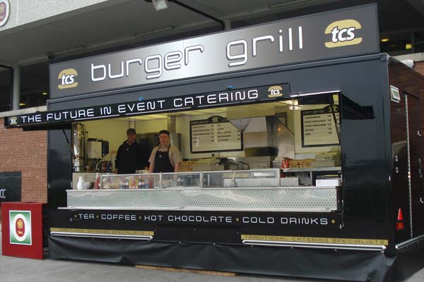 Traditional Catering unit at Haydock Park Racecourse